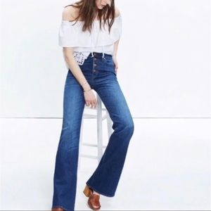 Madewell Flea Market Flare High Button Fly Jeans